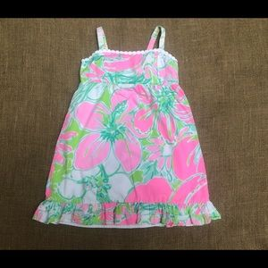 EUC LILLY PULITZER Bright Cotton Summer Dress 6 7